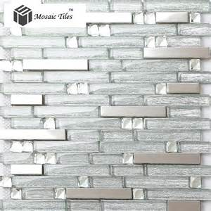 tst crystal glass tile crystal glass tiles silver strip 24 decorative self adhesive kitchen metal wall tiles 3 sq