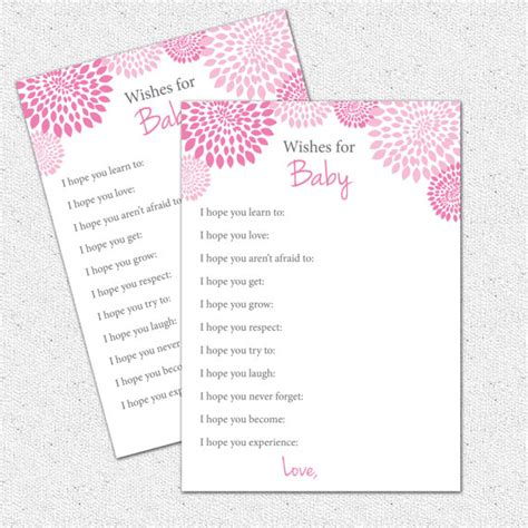 items similar to well wishes i hope you baby shower game