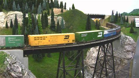 train layout videos youtube bn ho scale layout model railroad train video hd jan