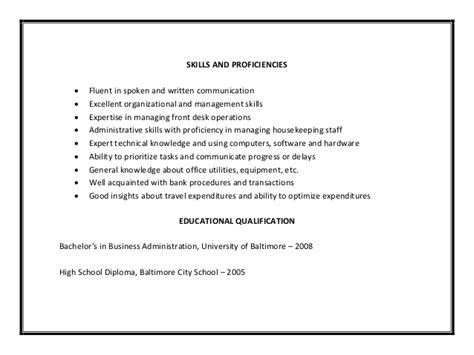 office assistant resume example amy biehl high school