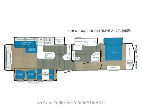 crusader fifth wheel floor plans 2015 fifth wheel forest river crusader 351req te