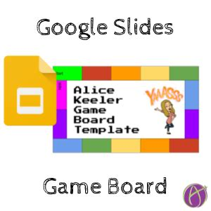 game templates for google slides google slides game board template teacher tech