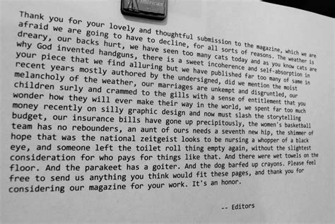 Rejection Letter Editor photo 365 project 187 editor s rejection letter
