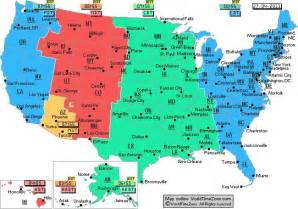 time zone map for america time zone arizona map