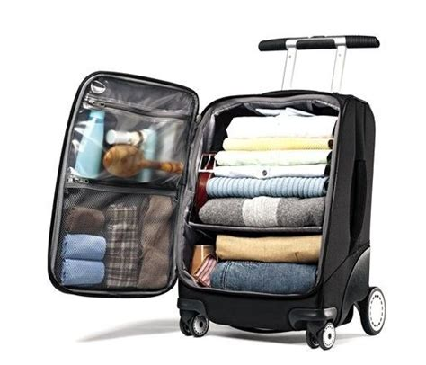 samsonite 21 quot ez cart shelves on the inside travel