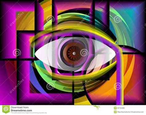 imagenes de ojos abstractos pintura abstracta del ojo dentro de un shell stock de