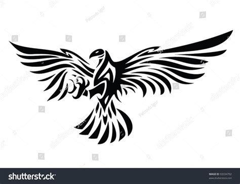 tribal eagle tattoo vector illustration eagle stock vector