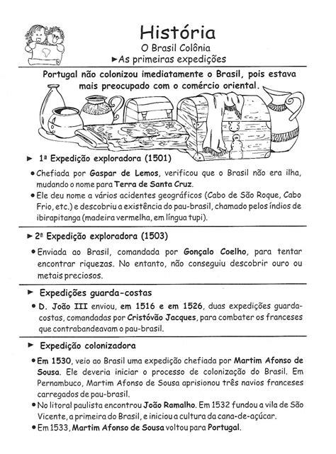 Blog Professor Zezinho : Atividades de História para 5