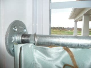 cafe curtain rods inside mount inside mount galvanized pipe cafe curtain rod cool