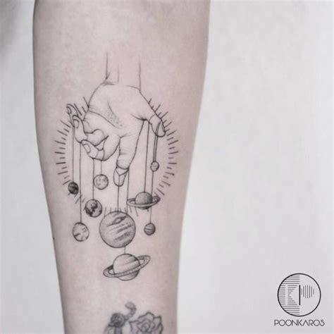 planet tattoo designs geometric planet puppet on the left inner