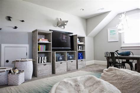 attic playroom ideas transitional boys room