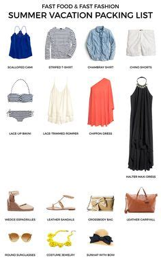 Summer Wardrobe Checklist by Summer Vacation Packing List Simple Classic Style