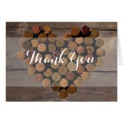 rustic wine cork thank you notes stationery note card zazzle