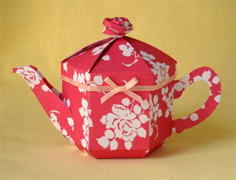 crafts pdf pdf template now available for the teapot treats gift box
