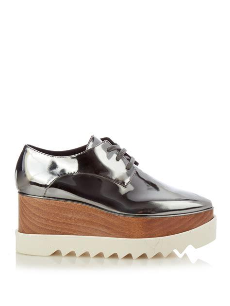 Platform Faux Leather Shoes lyst stella mccartney elyse faux leather platform shoes