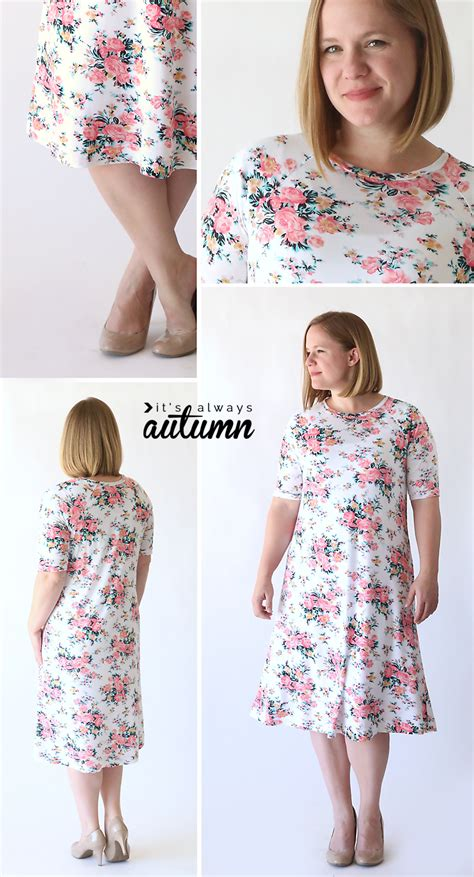 swing dress sewing pattern the easy tee swing dress simple sewing tutorial it s