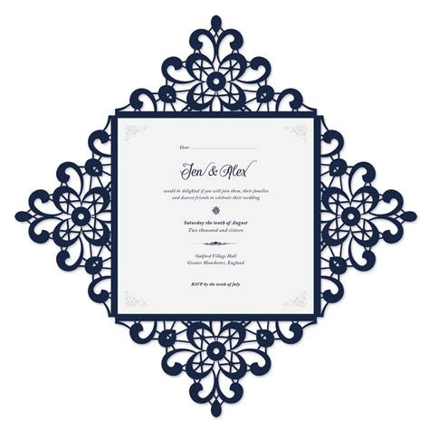 Invitation Card Template Indesign by How To Create A Laser Cut Wedding Invitation In