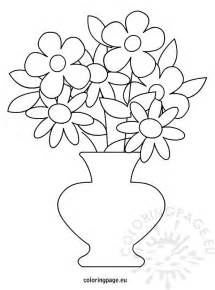 flower pot coloring page flower pot free colouring pages
