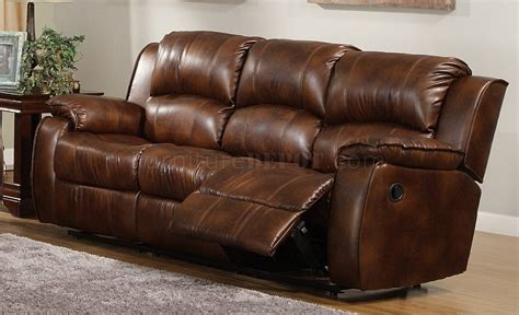 medium brown leather sofa 9888 contemporary sofa in warm brown leather by homelegance