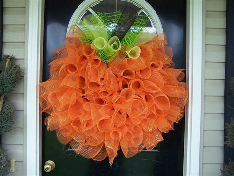 How To Make Mesh Wreaths For Front Door For The Of Tulle Pumpkin Wreath