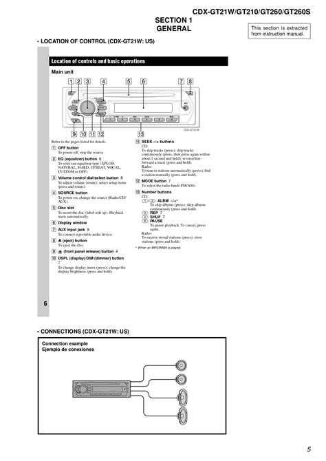 sony cdx gt210 wiring diagram sony car radio wiring