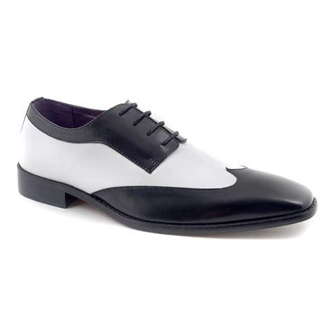 buy mens black white two tone derby shoes gucinari