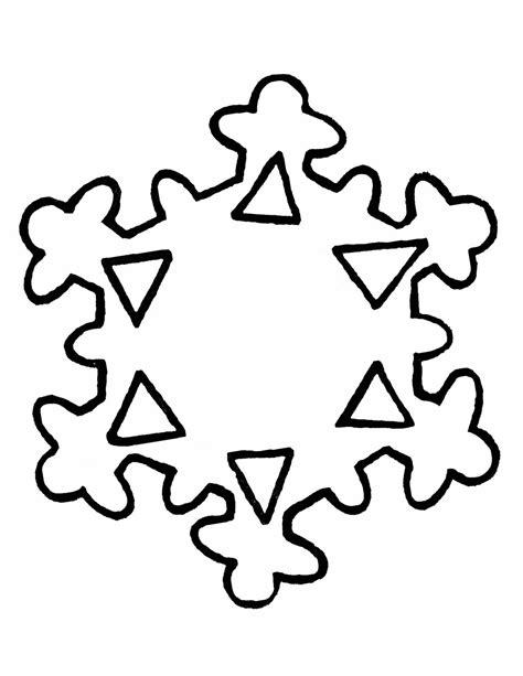 snowflake outline template snowflake outline clipart best