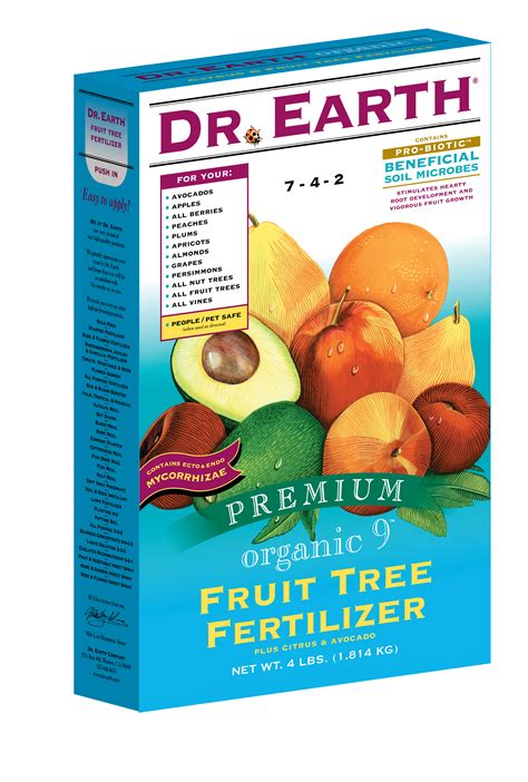 fertilizer for fruit trees dr earth fruit tree fertilizer 7 4 2 4lbs