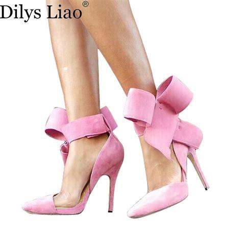 bowknot high heels fashion s shoes pointed toe big bowknot thin heels