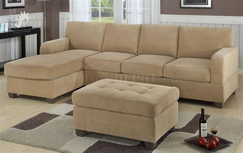 suede sectional sofas khaki waffle suede contemporary sectional sofa w ottoman