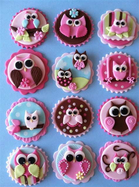 owl toppers owl cupcake toppers
