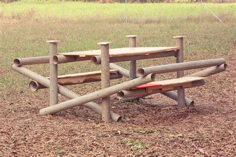bench press pole palletable furnishing in the garden old school garden