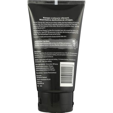 tattoo cream woolworths brut sun care tattoo guard 100ml woolworths