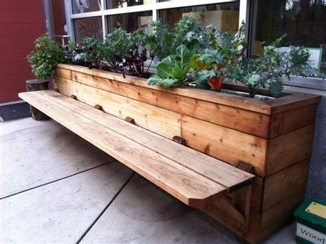 wooden bench with planters buildergibbs recent projects classroom bench planter