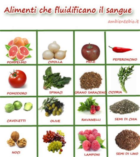 alimenti fluidificano il sangue salute tanti buoni consigli per te
