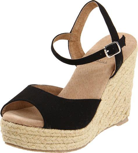 Wedges Electric Black black platform sandals volatile black wedge sandals