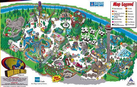 theme park brochures six flags elitch gardens theme park