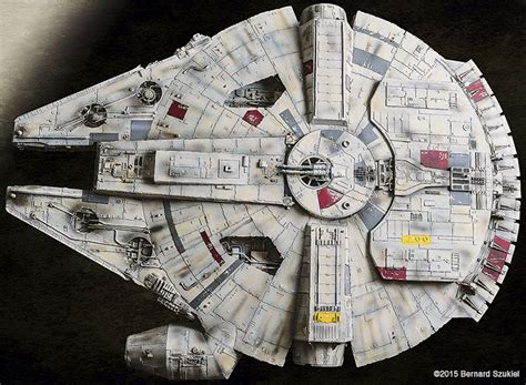 Millenium Falcon Papercraft - papercraft millenium falcon took four years to build