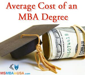 Mba Exchange Cost by Average Cost Of An Mba Degree Average Cost Of An Mba Degree
