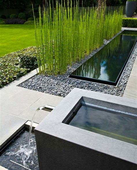 contemporary landscapeyard  raised beds bamboo grass