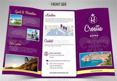 hotel brochure template 15 great travel brochure templates design freebies