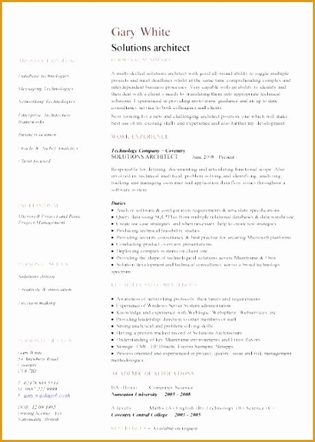 Solutions Architect Resume by 5 Solution Architect Resume Free Sles Exles