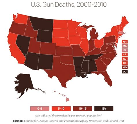 deaths by gun violence in the united states 2014 rates of gun deaths vary widely in u s cbs news