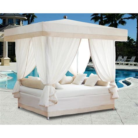 outdoor canopy bed luxury outdoor lounge bed with canopy 515223 patio furniture