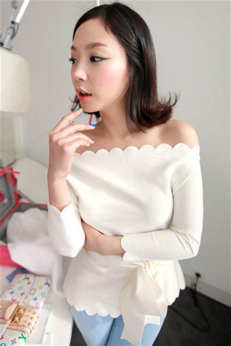 sweet boat neck three quarter white spandex shirt
