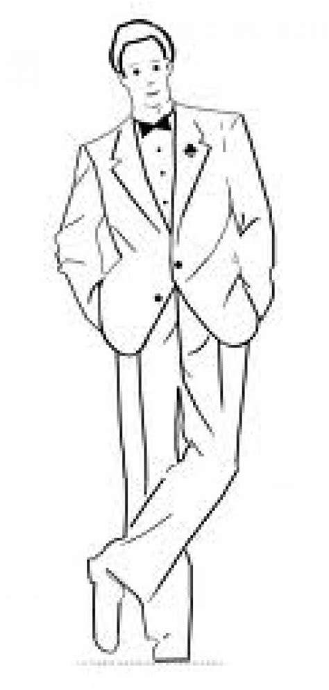 dibujos para nios de hombres para colorear pintar hombre exitoso dibujo de hombre bien vestido para colorear