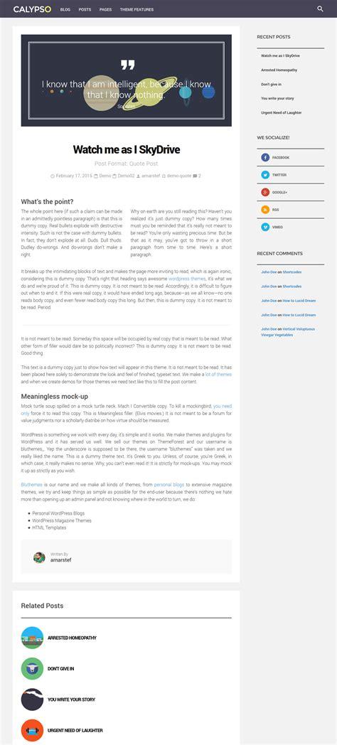 design menu wordpress calypso material design wordpress theme by bluthemes