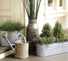 Galvanized metal tubs buckets amp pails as planters driven by decor