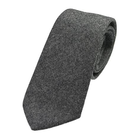 slate grey mix tweed wool tie extras