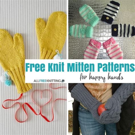 free easy knitting mittens patterns for 2 needles easy two needle children s mittens allfreeknitting